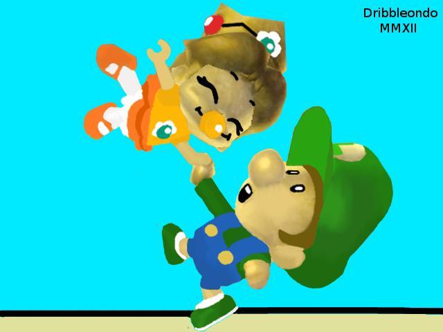 Baby Daisy And Baby Luigi By Dribbleondo On Deviantart