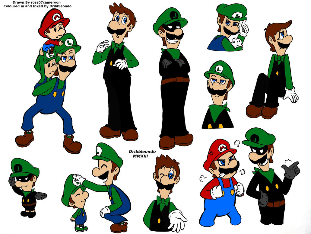 Super Mario: Random Doodles Coloured In by dribbleondo