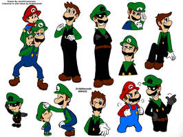 Super Mario: Random Doodles Coloured In by dribbleondo