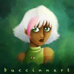 Girl in green by Buccinnart