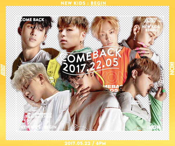 2017 22 05 / COMEBACK iKON ] PACK PNGS by suceobaby on