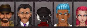 A Shadowrun-Team by Project-Drow