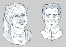 Shadowrun NPC Sketches