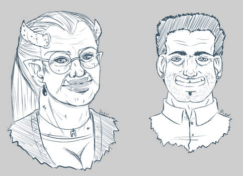 Shadowrun NPC Sketches