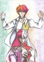 2 personagens, 2 mundos by IronLass