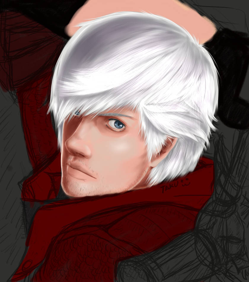 Dante Devil May Cry 4 Re Draw Wip By Takuminakayama On