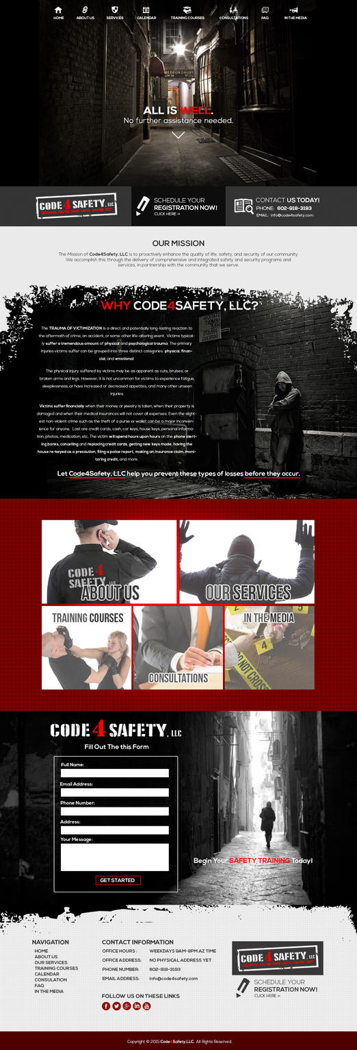 Code4Safety home Page Design by TakumiNakayama