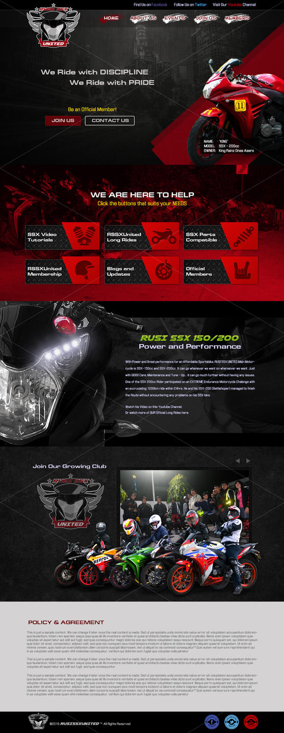 RUSI SSX UNITED Official Website Design by TakumiNakayama