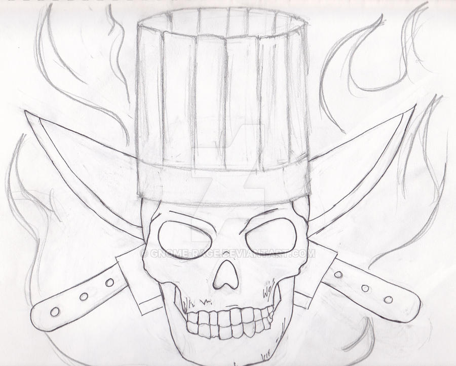 chef skull tattoo design by gnome rage on deviantart. Black Bedroom Furniture Sets. Home Design Ideas