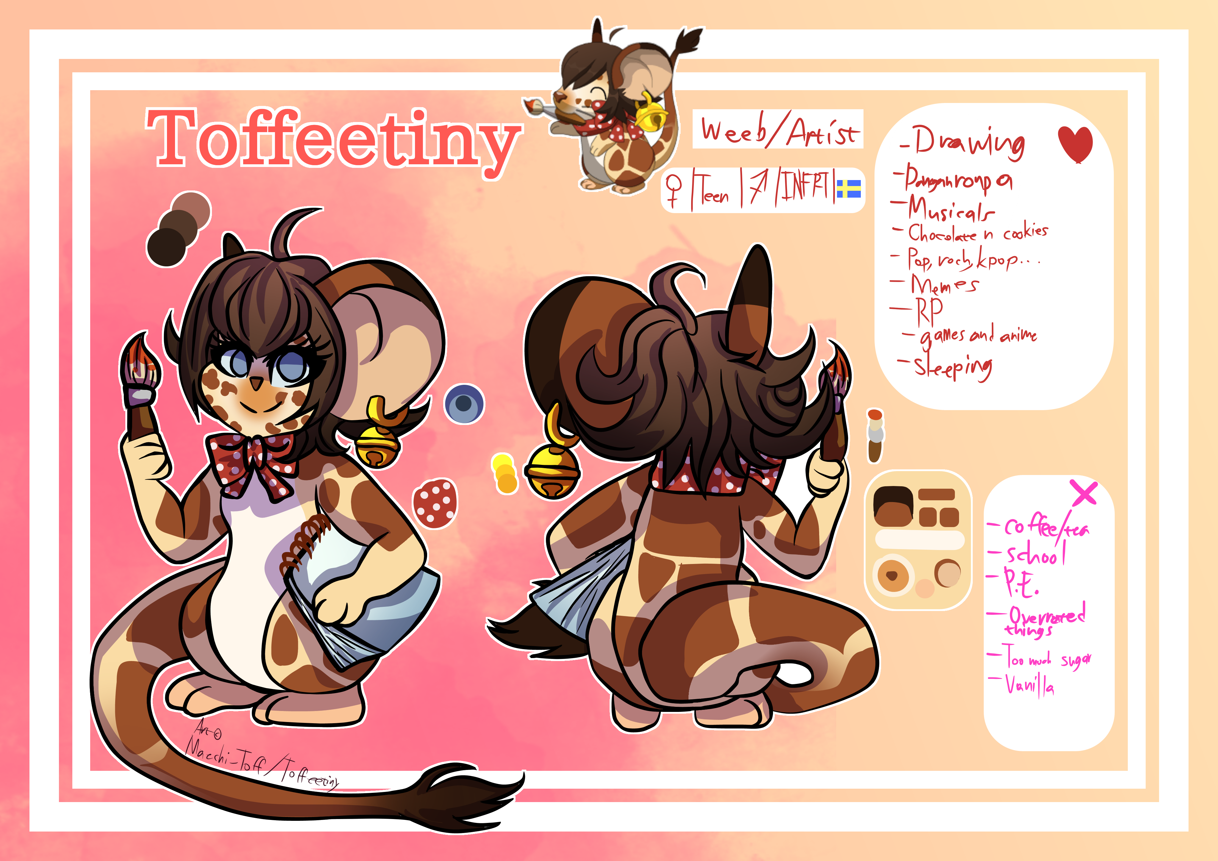 [TFM Mouse] Toffeetiny Handrawn Ref Sheet 2018 by Maechi-Toff
