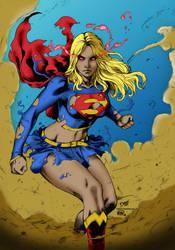 Supergirl  Deilson Inks Tones  Me By Bamarts Dbwas by Kadosh91