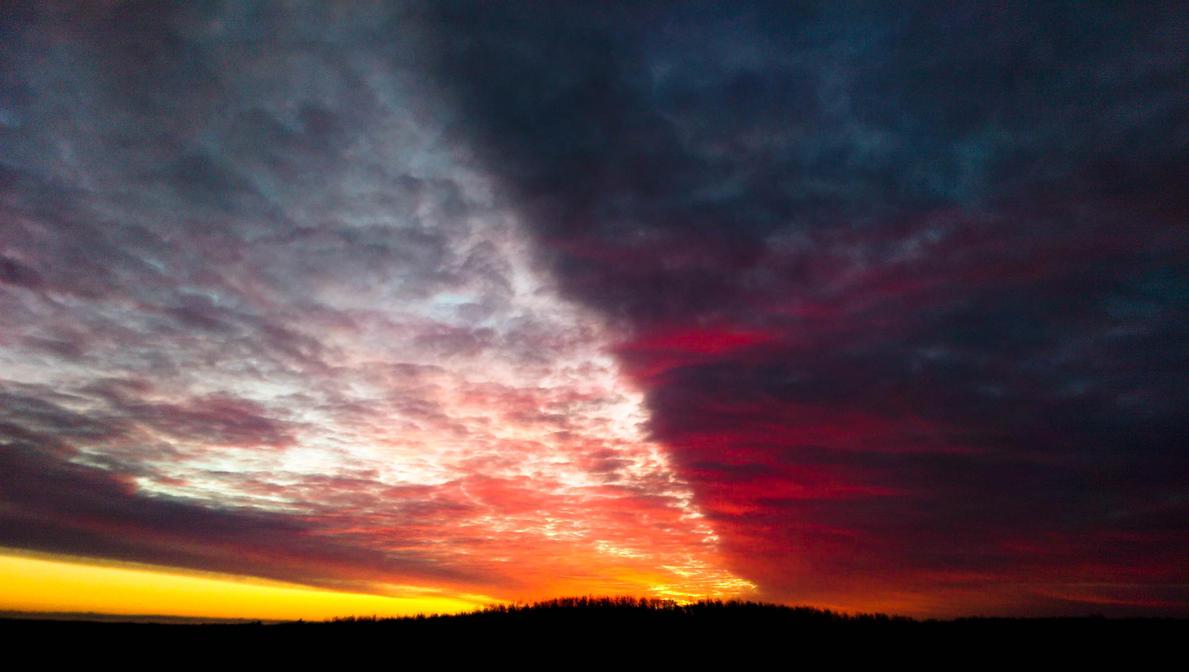 Alberta Sunrise - Light vs. Dark by ScottyShines on DeviantArt for Dark Vs Light Nature  181obs