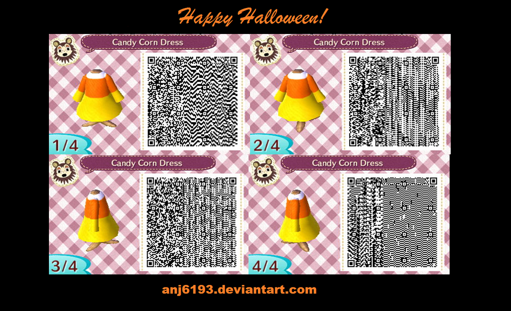Animal Crossing: New Leaf Candy Corn Dress by anj6193 on DeviantArt