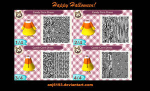 Animal Crossing: New Leaf Candy Corn Dress by anj6193