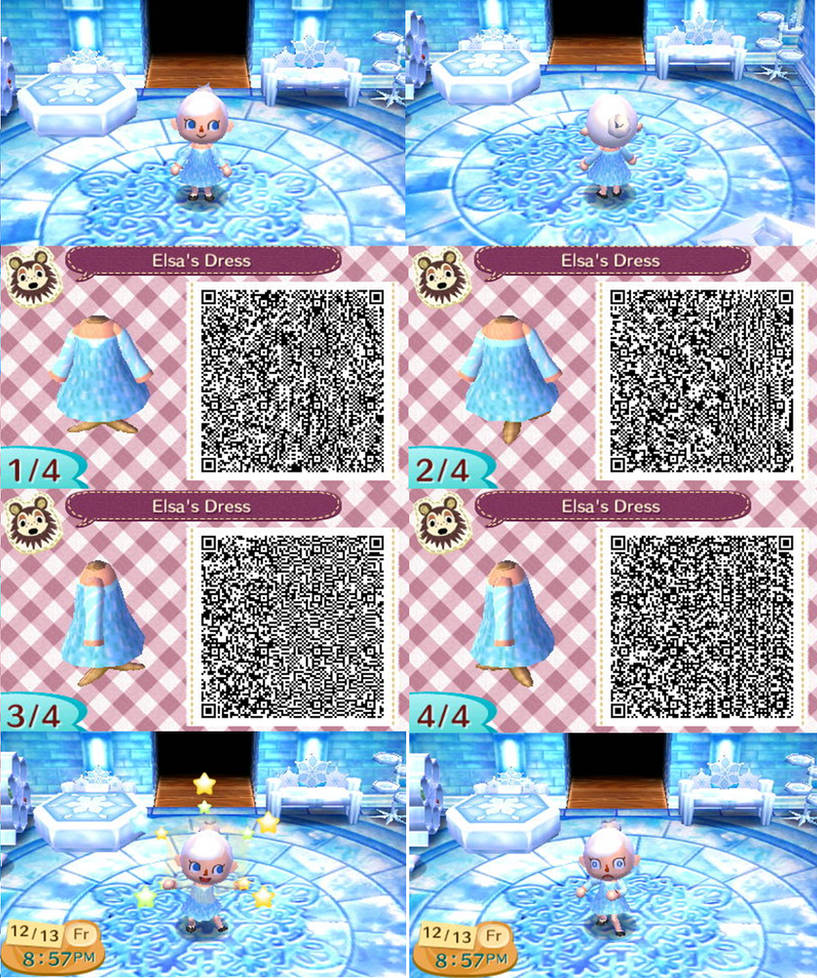 Animal Crossing: New Leaf QR - Elsa by anj6193