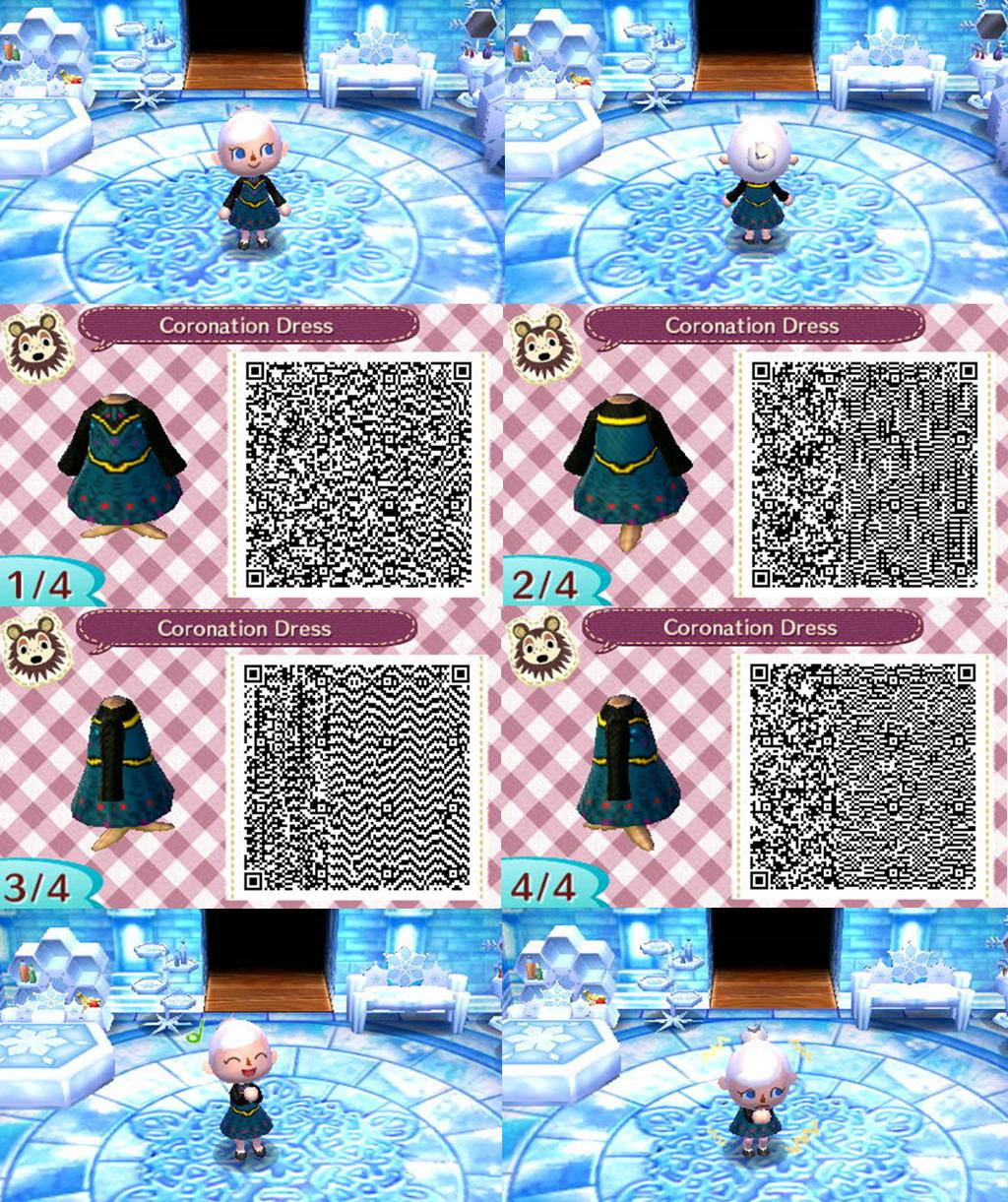 エルサの深緑のドレス マントなしQRコード