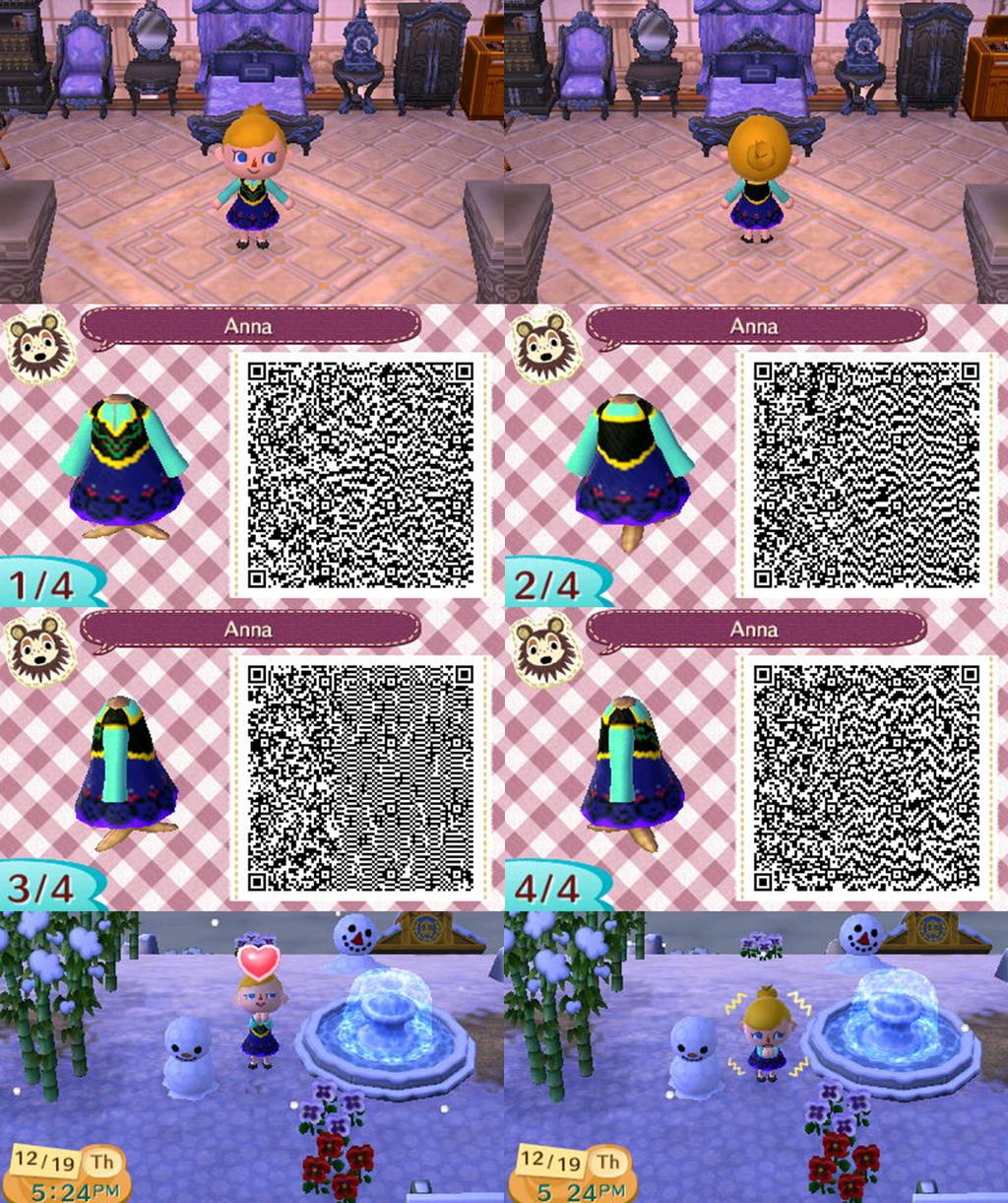アナのブルーとブラックの衣装のQRコード