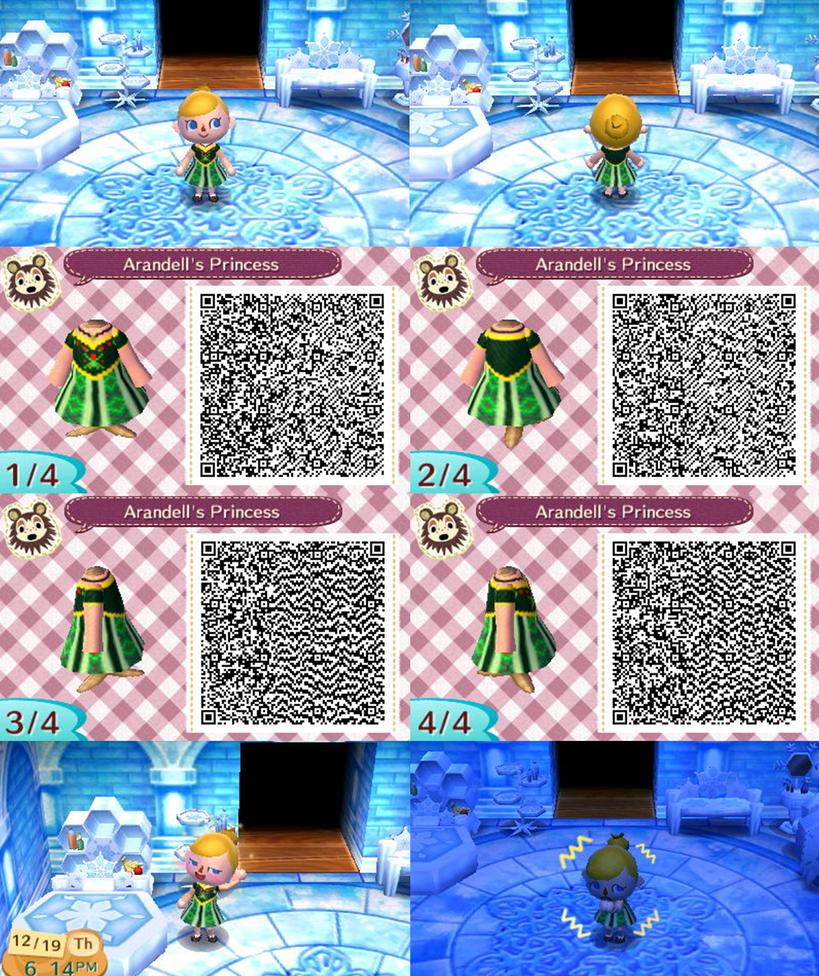 エルサの戴冠式の時のグリーンのドレス QRコード