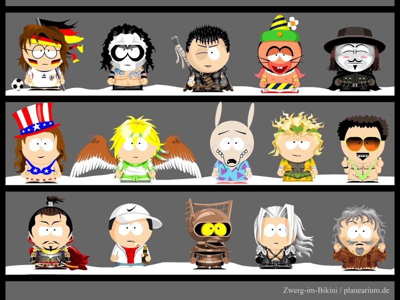 My own South Park characters10 by Zwerg-im-Bikini