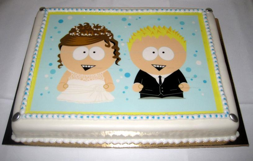 South Park Wedding Cake by Zwerg-im-Bikini on DeviantArt