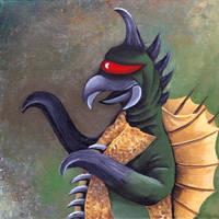 Monster portrait: Gigan by Zwerg-im-Bikini