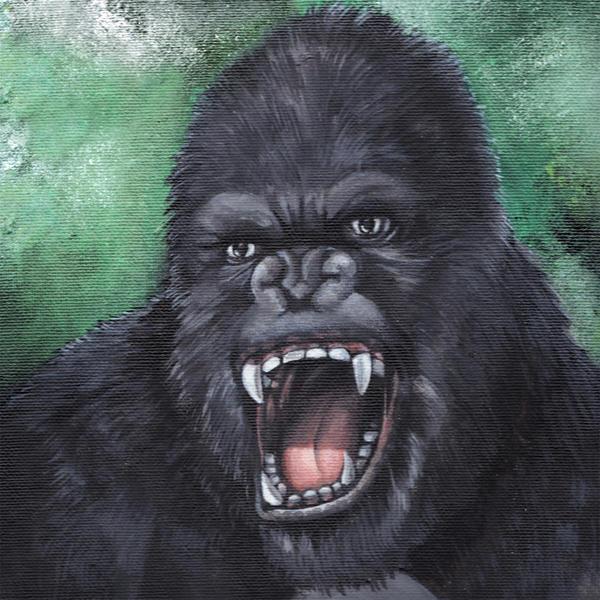 Monster portrait: King Kong by Zwerg-im-Bikini