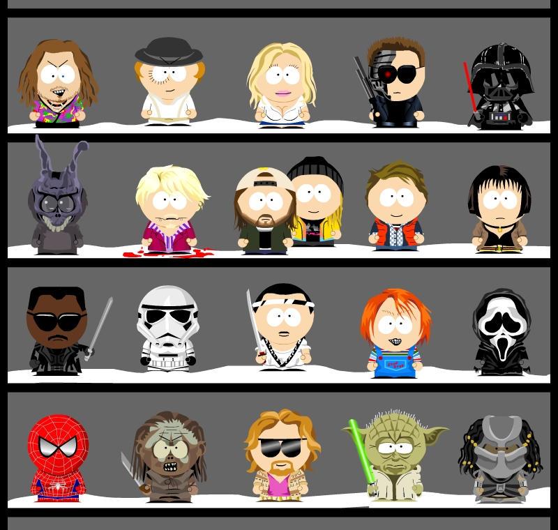 My own South Park characters 2 by Zwerg-im-Bikini