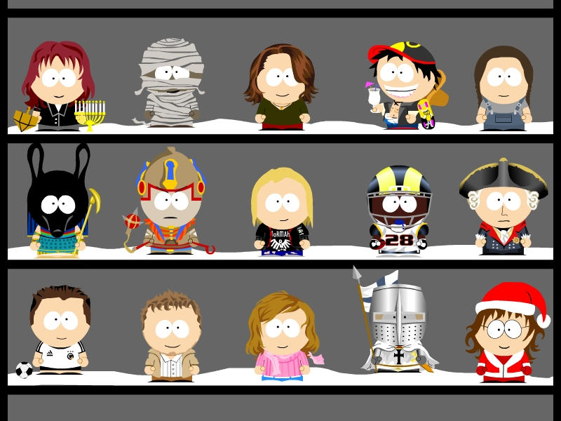 My own South Park characters 5 by Zwerg-im-Bikini