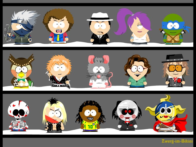 My own South Park characters 8 by Zwerg-im-Bikini