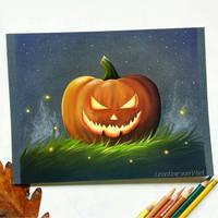 Evil pumpkin by LeontinevanVliet