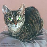 'Katy', Pastel portrait by LeontinevanVliet