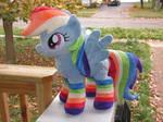Rainbow Dash Plush- with socks