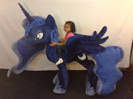 Life Size Luna Plush by KarasuNezumi