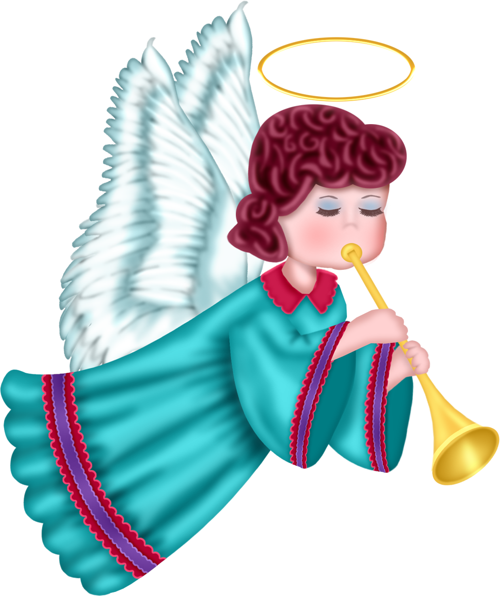 Cute Angel with Blue Robe Free PNG Clipart Picture by joeatta78 on ...