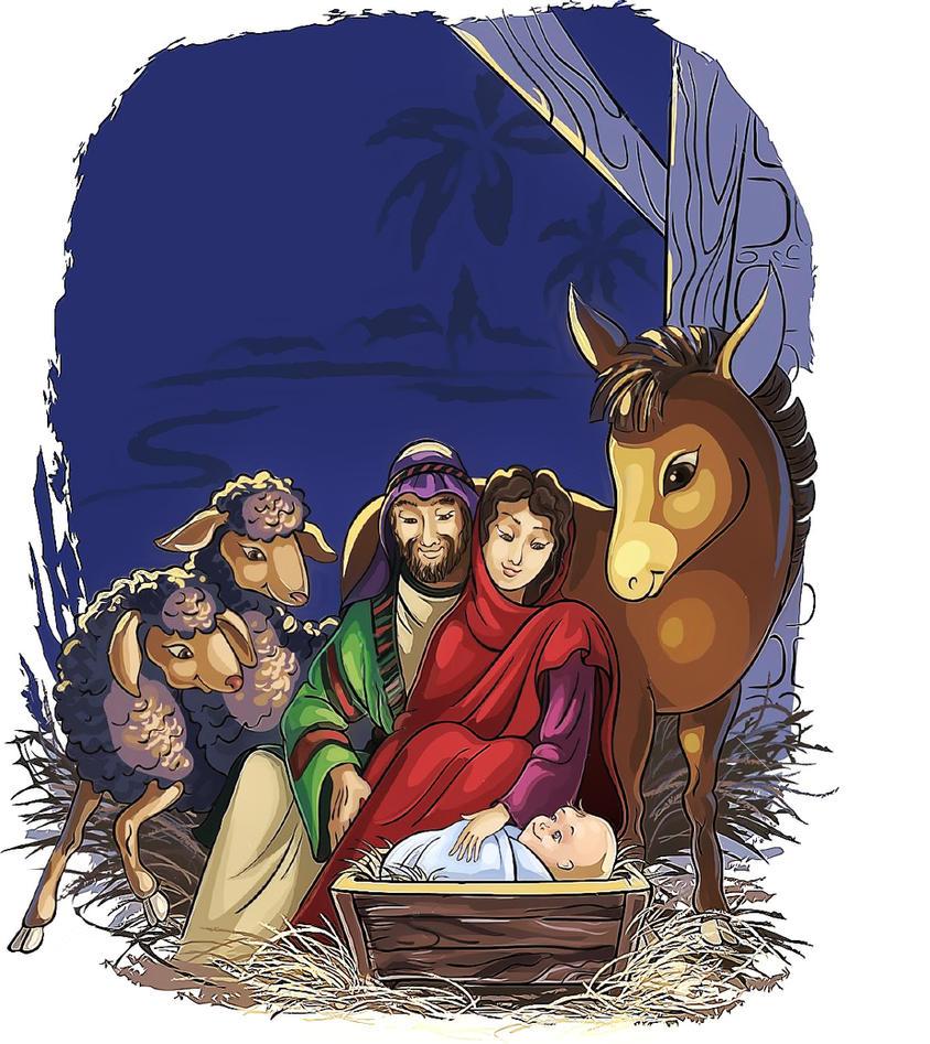 10871324-christmas-nativity-scene-with-holy-family by joeatta78