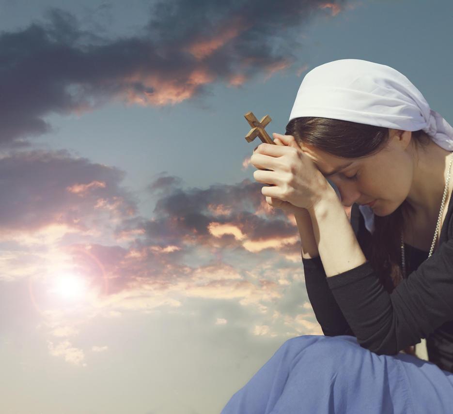 women-praying-during-sunset-1 by joeatta78