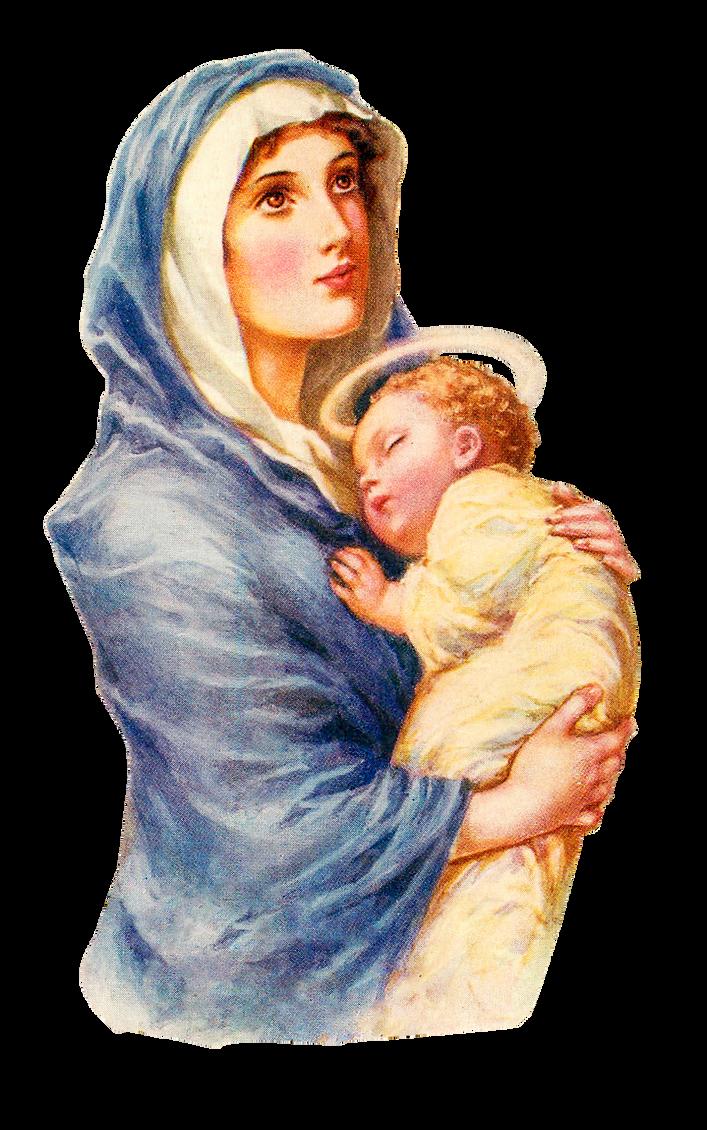 Надписью, картинки дева мария и иисус