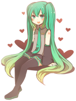 Little Miku by niaro