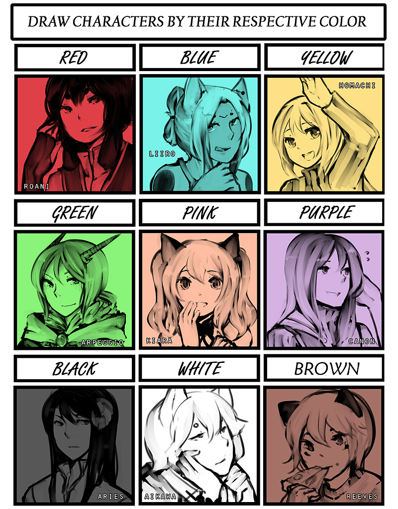 Character Color Meme by niaro