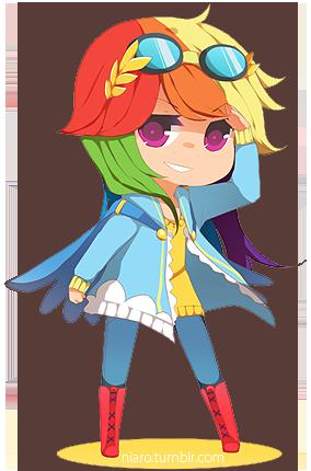 MLP- Rainbow Dash by niaro