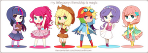 MLP- Friendship is Gijinka'd!