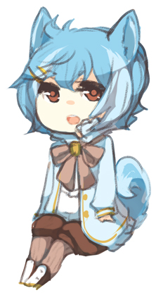 Sacha warm up chibi by niaro