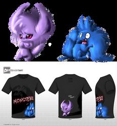 Cute monsters by BlackySpyro