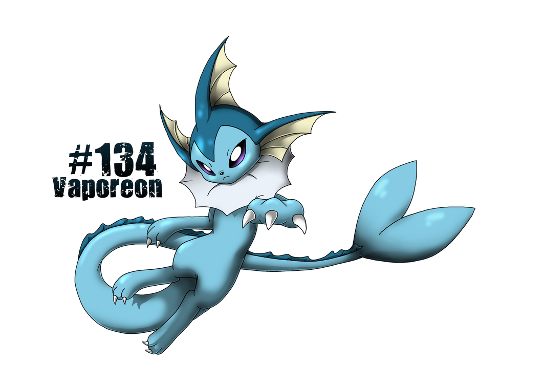 #134 Vaporeon - Pokedex Project by BlackySpyro