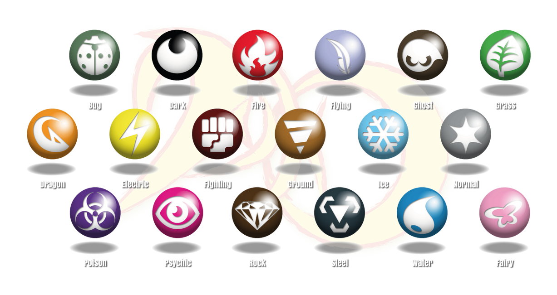 Pokemon Dyko New Type Symbols Fairy Type Added By Blackyspyro On