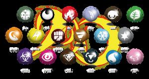 Pokemon Dyko - New type symbols - Fairy Type added