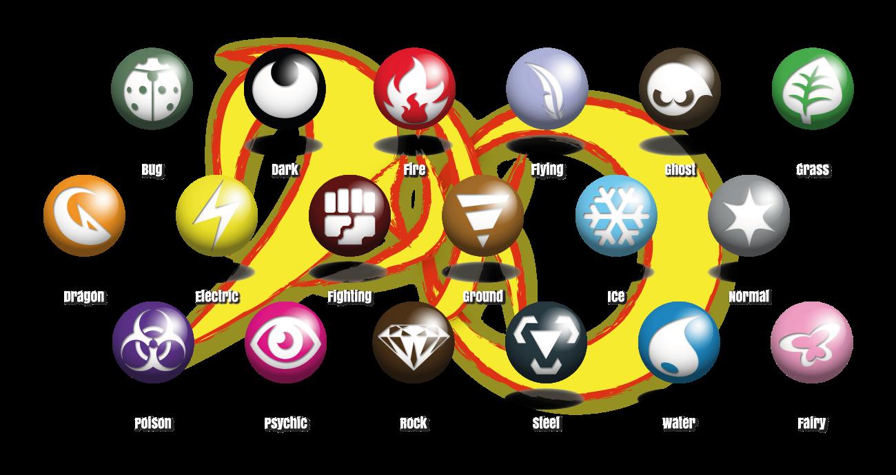 Pokemon Dyko - New type symbols - Fairy Type added by BlackySpyro