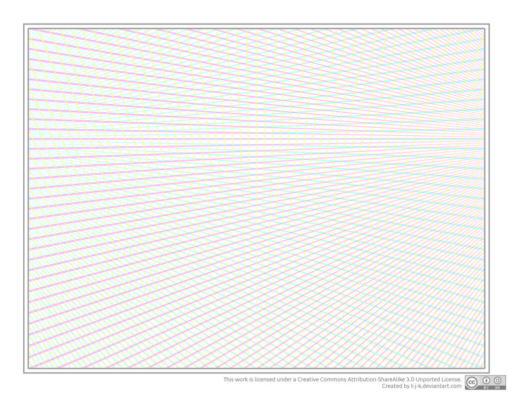3d grid three point perspective graph paper by t j k on