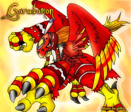 Garudamon- Bird of Love by Angemonx