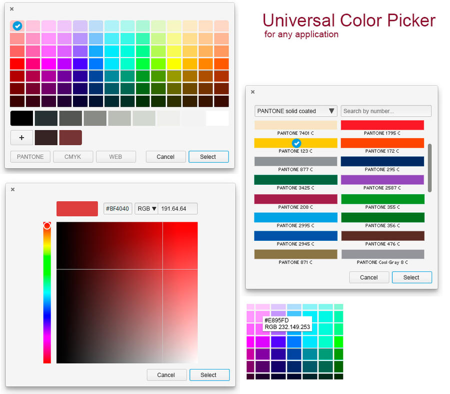 elementary OS Color Picker mockup, version 1 by 13iangel on
